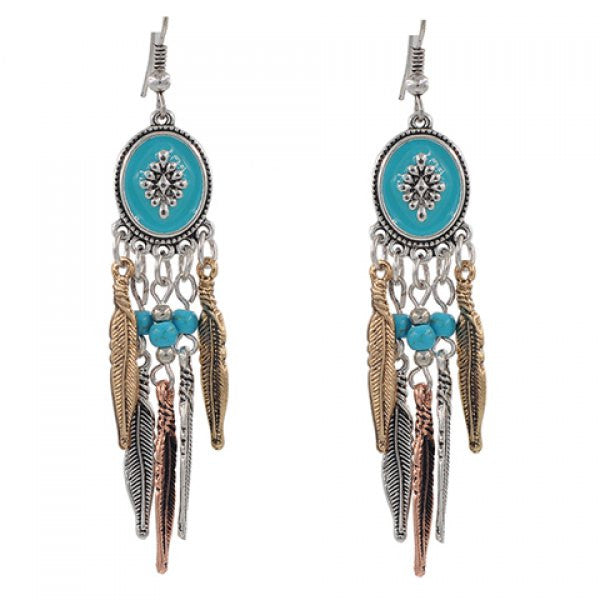 Vintage Style Feather Tassel Earrings - Ashlays