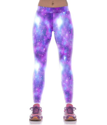 Galaxy Print Skinny Pants Leggings - Ashlays