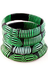 African Green Straw Bracelets - Ashlays