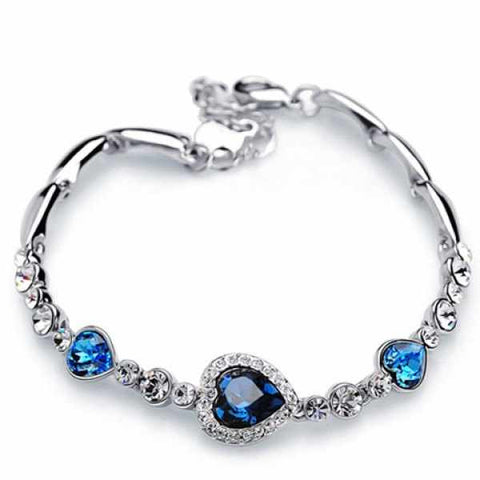 Heart Rhinestone Bracelet - Ashlays