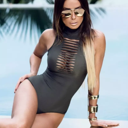 One Piece Hollow Front Swimsuit