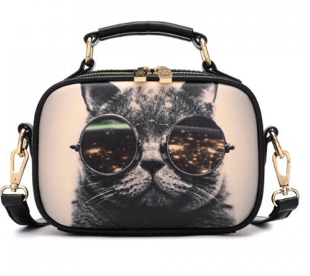 Kitten Design Crossbody Bag - Ashlays