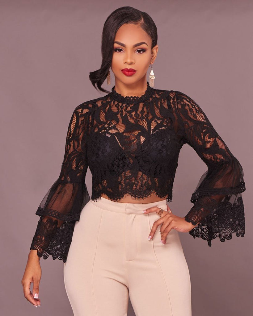 Lace Crop Top Blouse