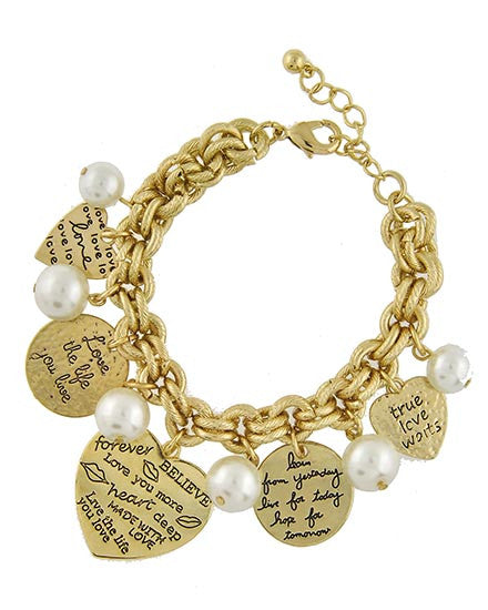 Love the Life You Live Charm Bracelet - Ashlays