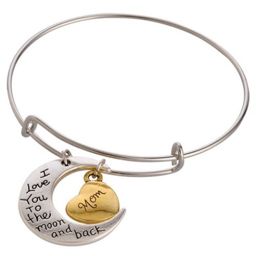 Stylish Printed Heart Moon Bracelet - Ashlays