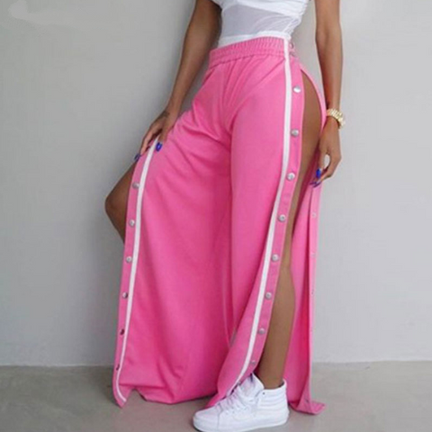 High Split Wide Leg Pants
