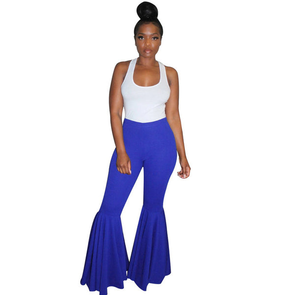 Bell Bottom Ruffle Flare Pants