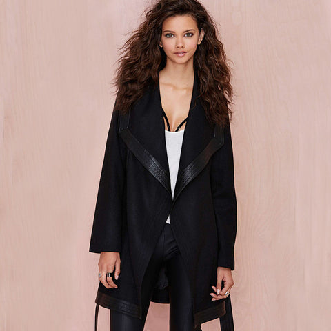 Winter Woolen Long Black Trench Coat - Ashlays