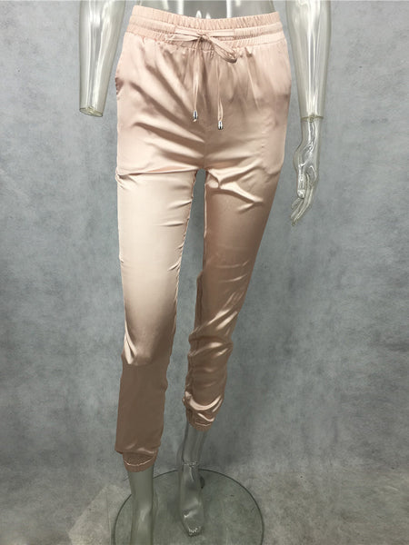 Casual Satin Drawstring Pants - Ashlays - 2