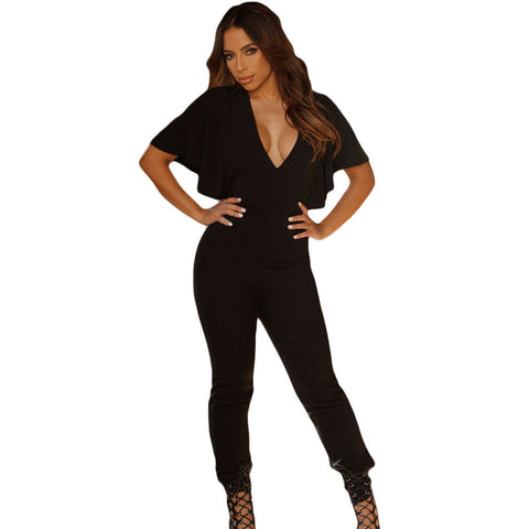 Backless Fitness Overall  Jumpsuit - Ashlays - 1