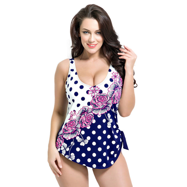 Retro Plus Size One Piece Swimsuit - Ashlays - 1