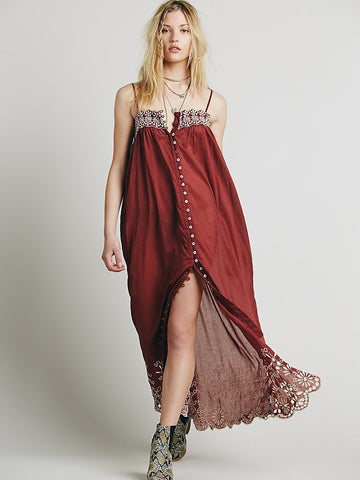 Women's Long Bohemian Maxi Dress
