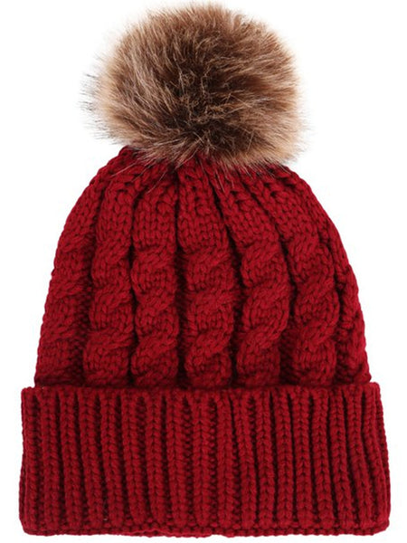 Pompom Beanie Hat - Ashlays - 1