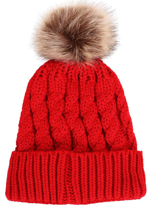 Pompom Beanie Hat - Ashlays - 5