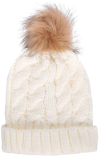 Pompom Beanie Hat - Ashlays - 2