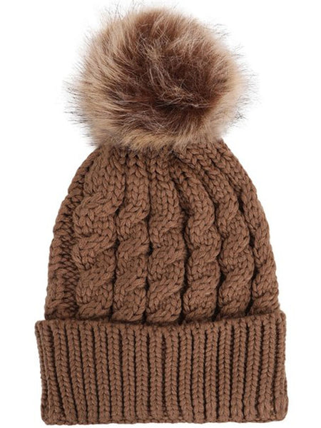 Pompom Beanie Hat - Ashlays - 4