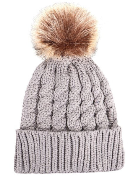 Pompom Beanie Hat - Ashlays - 3