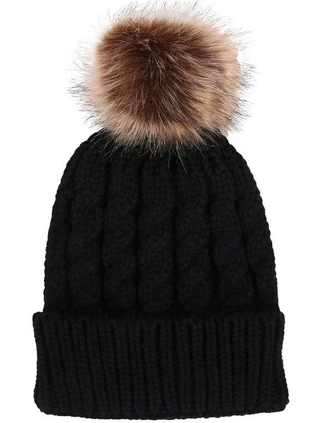 Pompom Beanie Hat - Ashlays - 6
