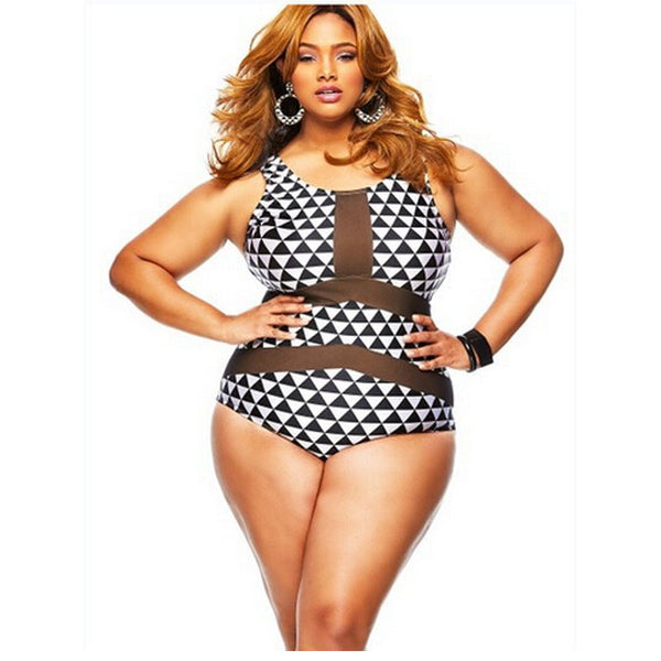 Sexy Plus Size Swimwear-One Piece Swimsuit - Ashlays - 1