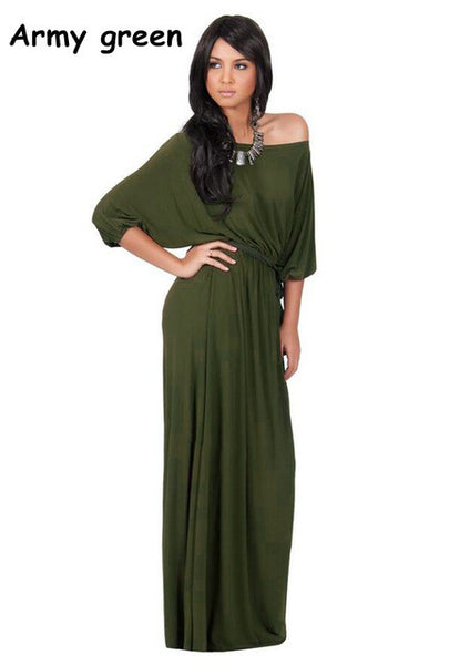 Off Shoulder Long Maxi Dress
