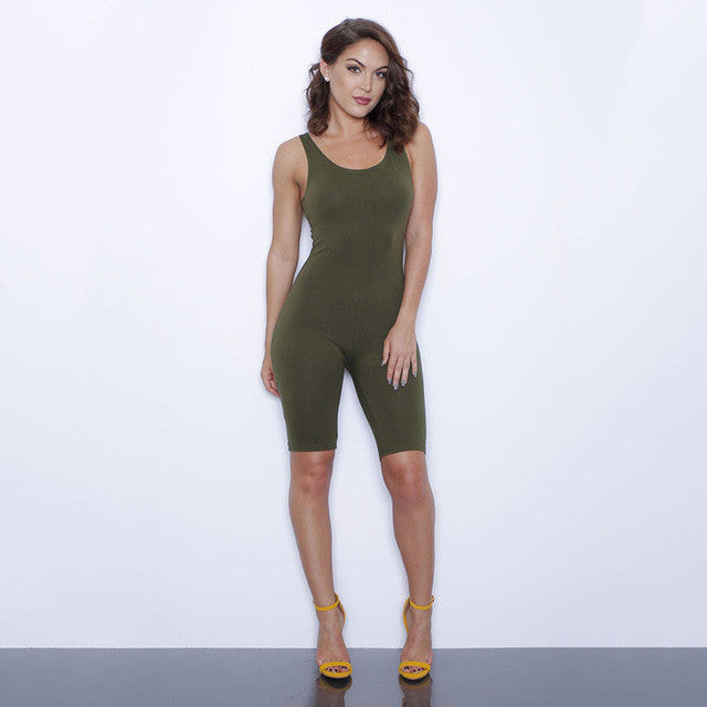 Women Backless Sleeveless Romper Jumpsuit