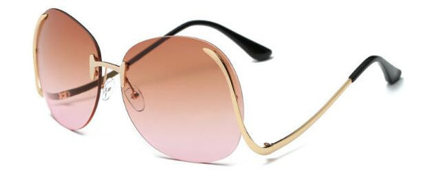 Rimless Oversized Vintage Sunglasses