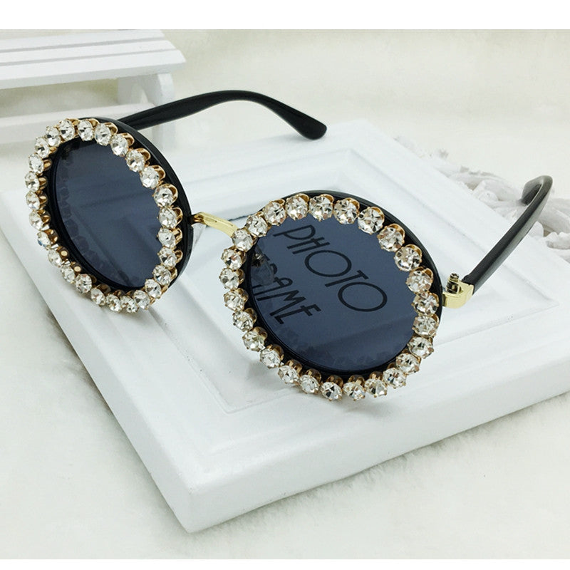 Women Crystal Vintage Sunglasses