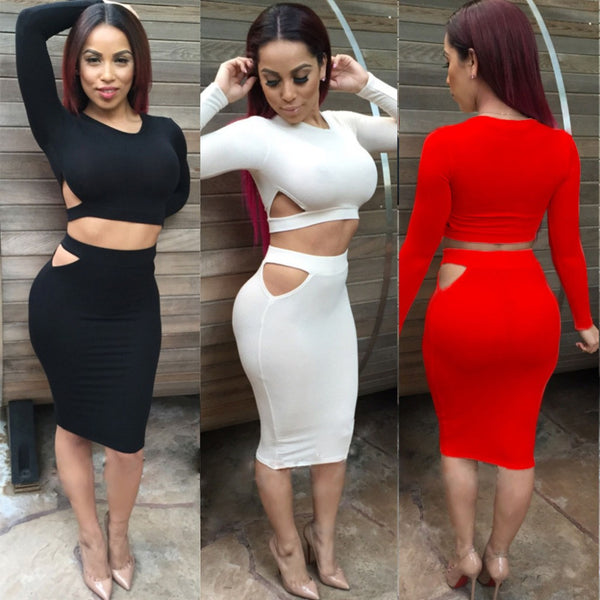 2 Piece Set Women Sexy Dress - Ashlays - 1
