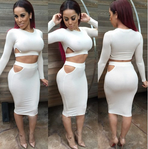 2 Piece Set Women Sexy Dress - Ashlays - 3