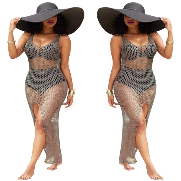 Mesh Beach Cover Up Dress