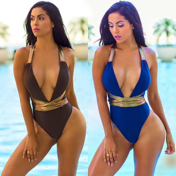 One-Piece Low Cut Swimsuit