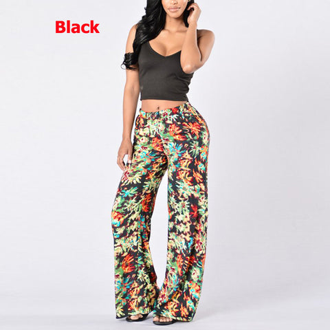 Casual Loose Floral Print Pants
