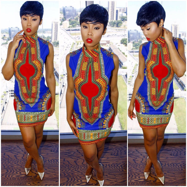 New African Style Bodycon Dress - Ashlays - 1