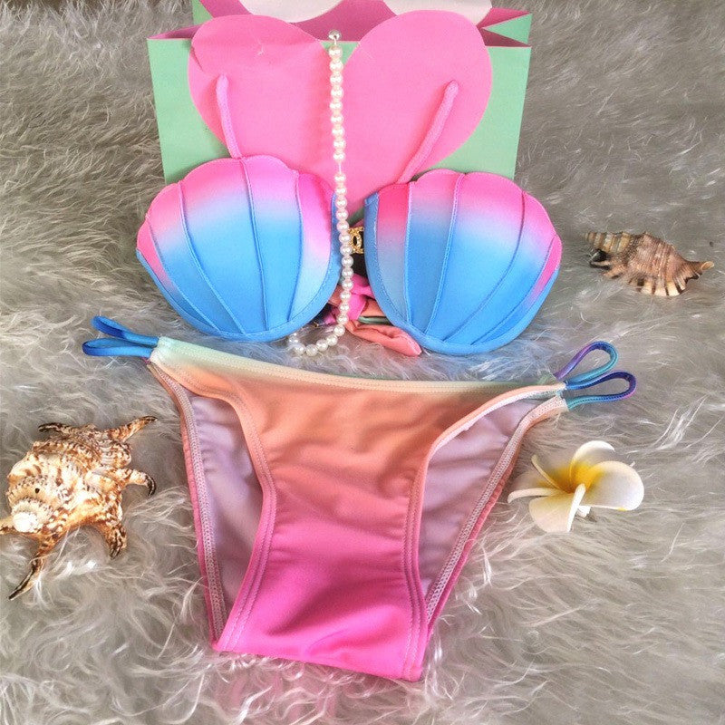 Colorful Sexy Shell Swimsuit - Ashlays - 3