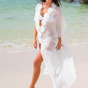 Beach Cover up White Dress