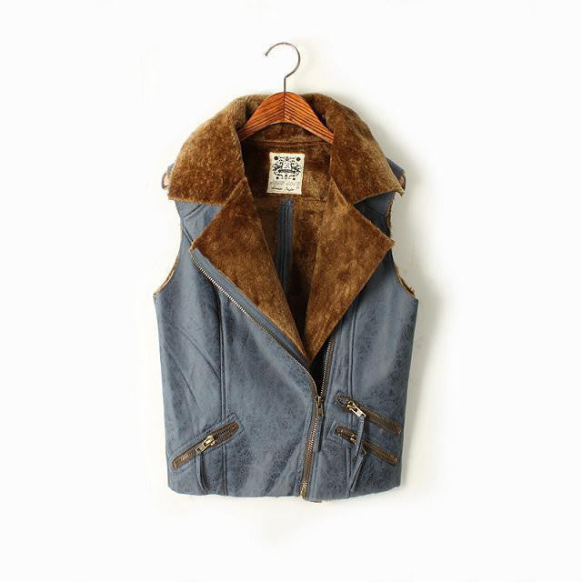 Faux Suede Fur Vest - Ashlays - 4