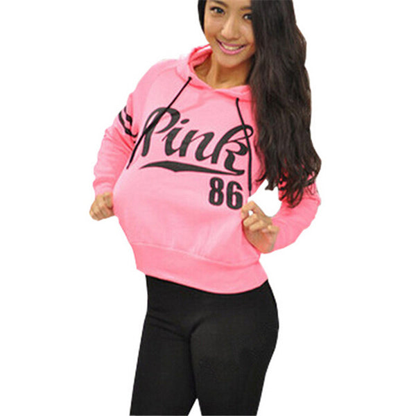 Women Fashion Pink Hoodie Sweatshirt - Ashlays - 1