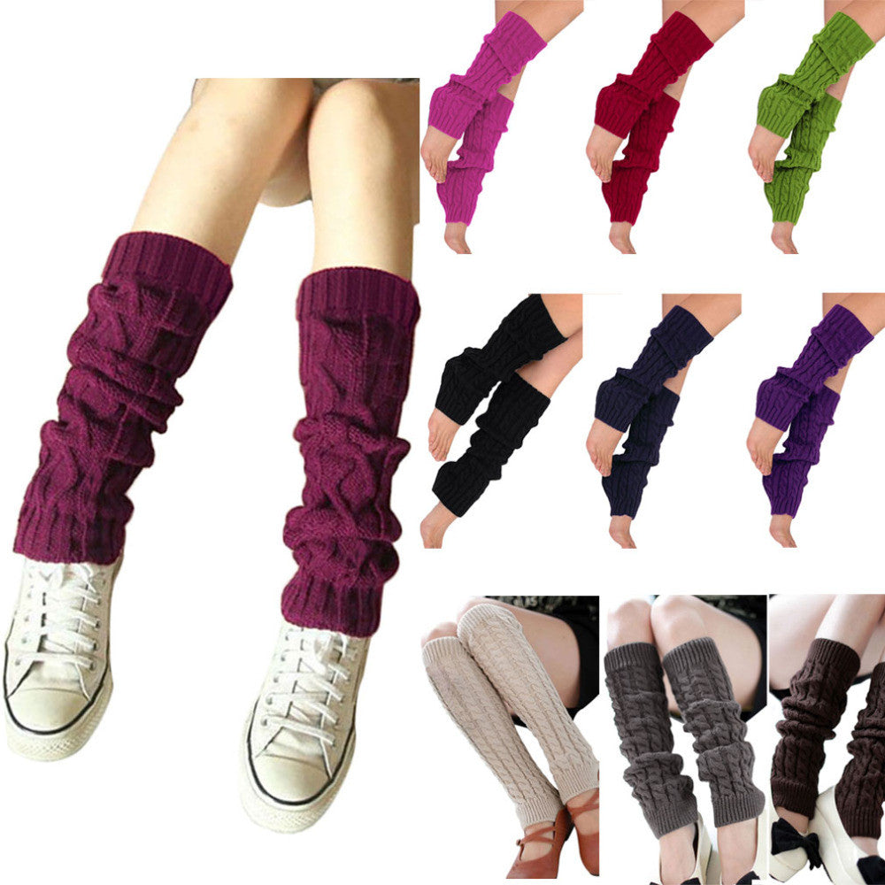 Ladies Winter Knit Crochet Leg Warmers - Ashlays