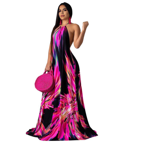 Halter Top Bohemian Long Dress