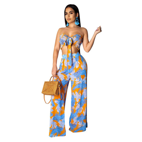 Floral Print Beach Two Piece Set