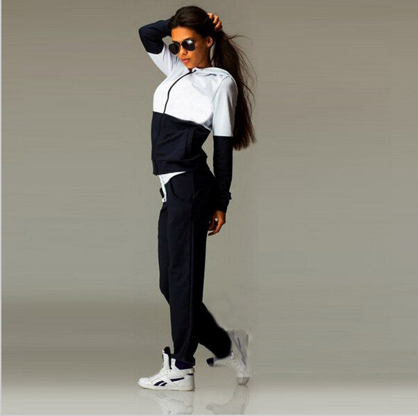 Womens Zipper Tracksuit with Hoodie - Ashlays - 3
