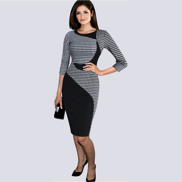 Short Sleeve Pencil Dress - Ashlays - 5