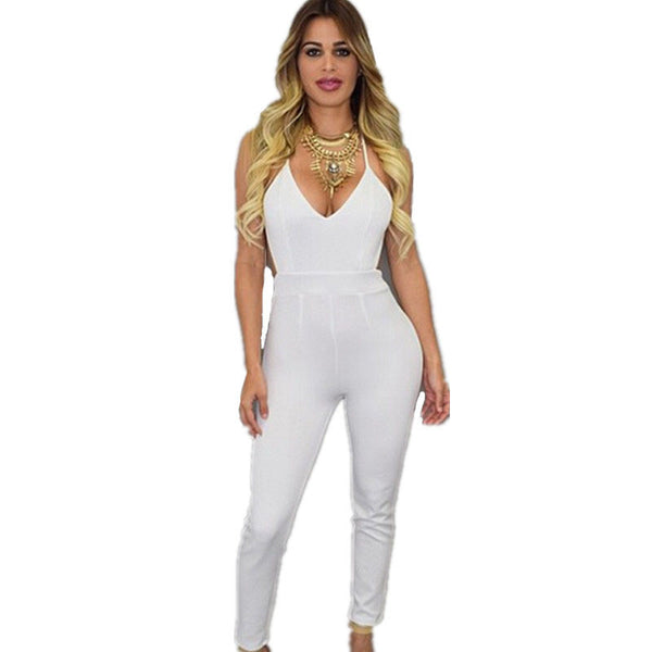 Skinny Sexy Backless Jumpsuit - Ashlays - 3