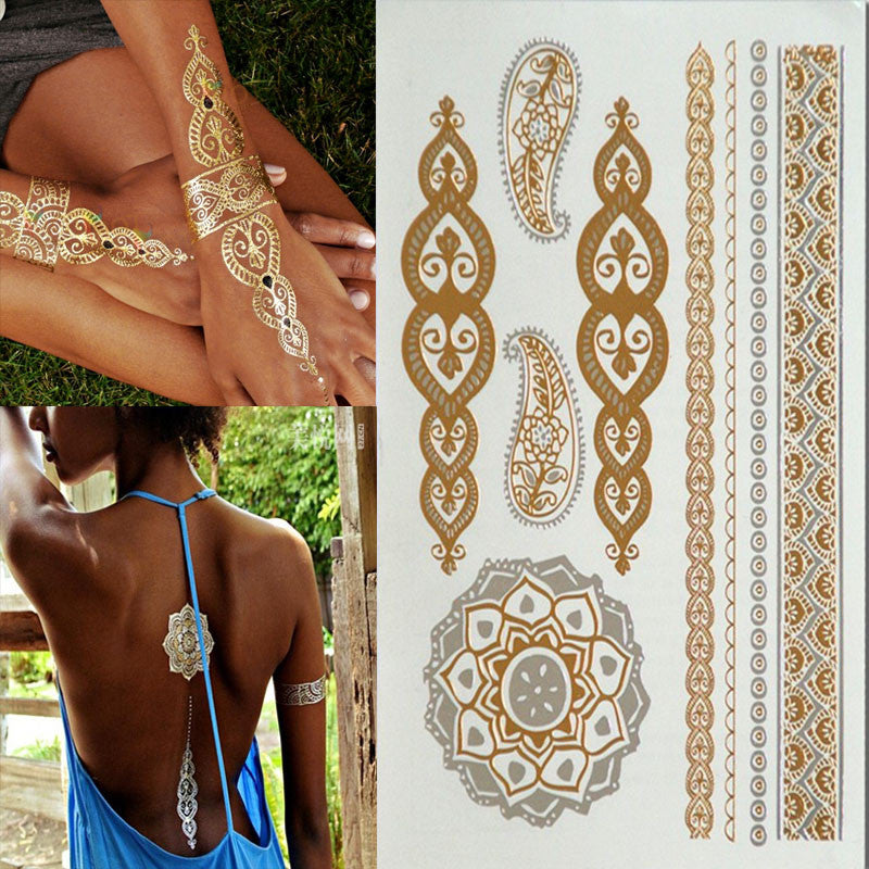 Temporary Gold Silver Tattoos - Ashlays