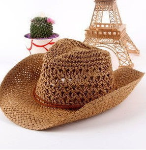 Straw Cowboy Beach Hat - Ashlays - 4