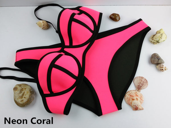 Fashion Neoprene Bikini Swimsuit - Ashlays - 14