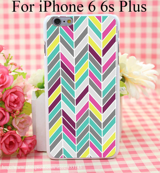 Chevron Cover Case for iPhone 4 4s 5 5s 5c 6 6s - Ashlays - 1