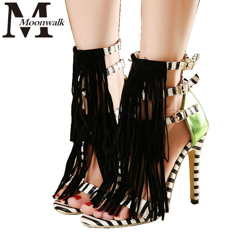 High Heel Tassel Sandals - Ashlays