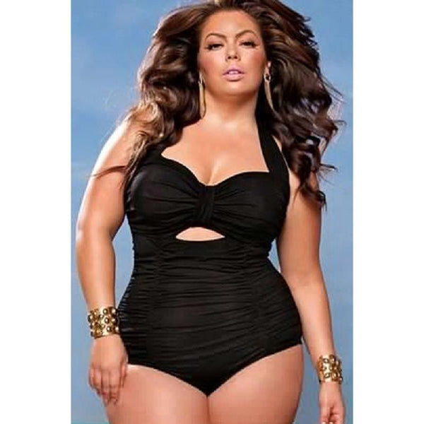 Plus Size One Piece Swimwear Bathing Suit - Ashlays - 3