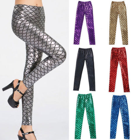 Fish Scale Skinny Stretch Leggings - Ashlays